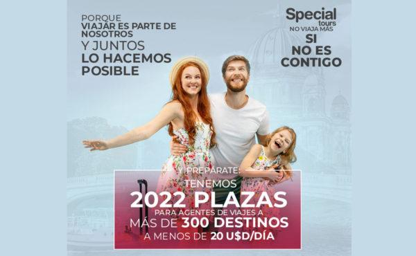 Special Tours anuncia 2022 plazas en +300 destinos